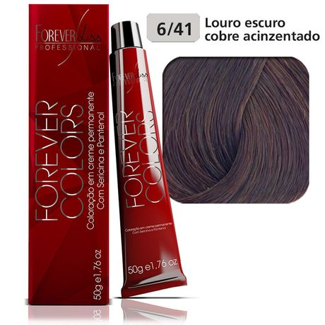 Coloracao-Forever-Colors---Cobre-Acinzentado-6-41-Louro-Escuro-Cobre-Acinzentado