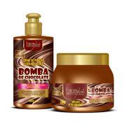 Kit-Bomba-de-Chocolate-com-Creme-e-Mascara-250g-Forever-Liss