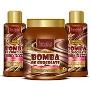 Kit-Bomba-de-Chocolate-com-Shampoo-Condicionador-e-Mascara-1kg-Forever-Liss
