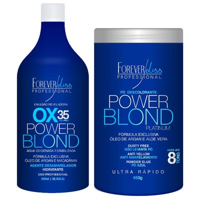 Forever-Liss-Power-Blond-Platinum---Kit-Descoloracao-Perfeita