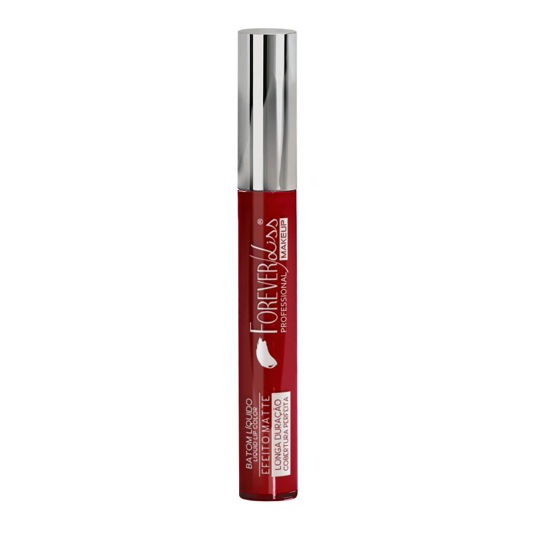 Batom-Matte-Liquido-Forever-Liss-Vermelho-Escuro