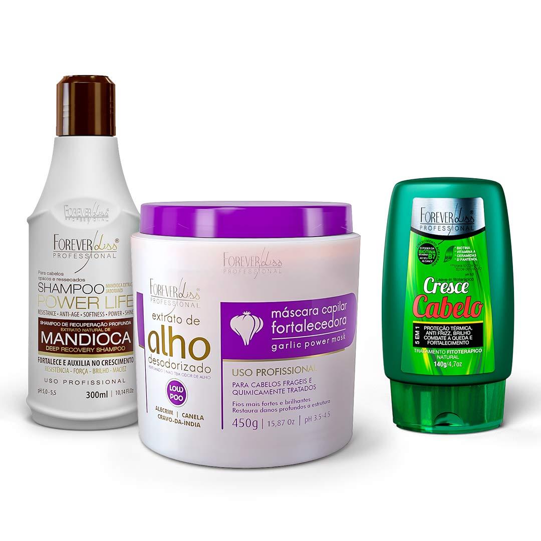 kit-mascara-de-alho-450g-com-shampoo-mandioca-ganhe-leave-in-cresce-cabelo-forever-liss
